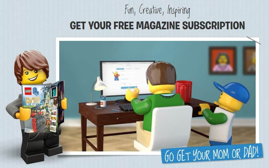 FREE LEGO magazine subscriptions