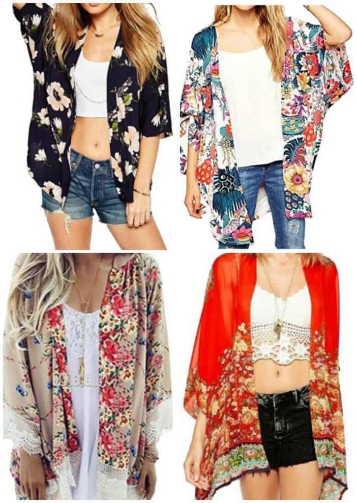Sheer Floral Kimonos