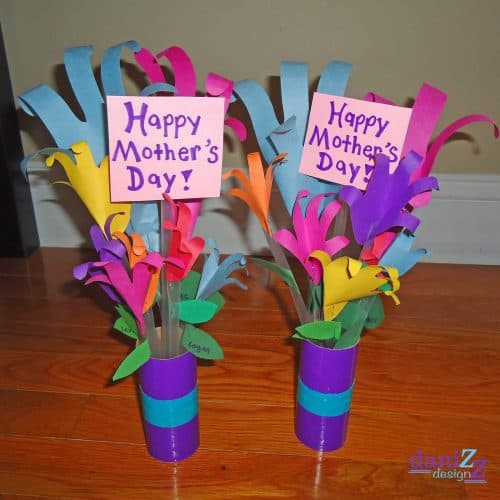 handprint flower bouquet craft s day crafts for preschool elementary and more 4642