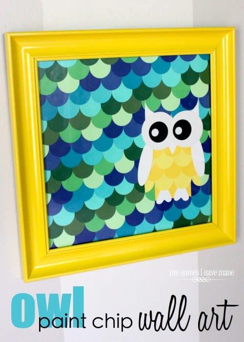 paint chip crafts. Black Bedroom Furniture Sets. Home Design Ideas