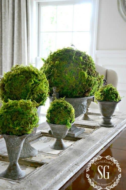 Moss Spheres Home Decor