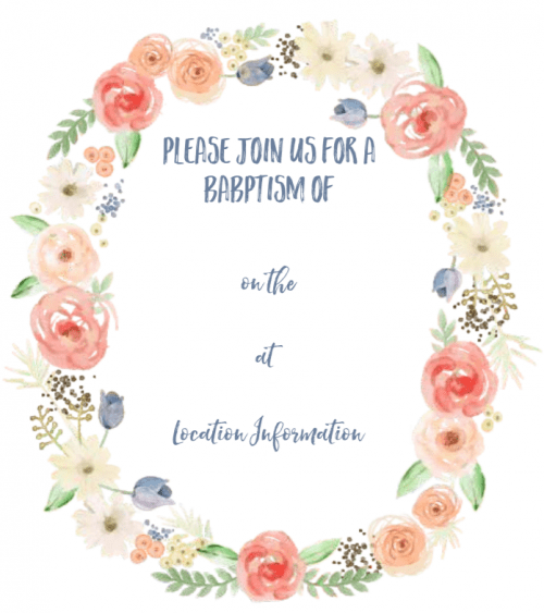Our Free Printable Baptism Invite And Congratulations On Your Child Making This Amazing Decision Too If You Are Like Me Prepare To Bawl Eyes Out