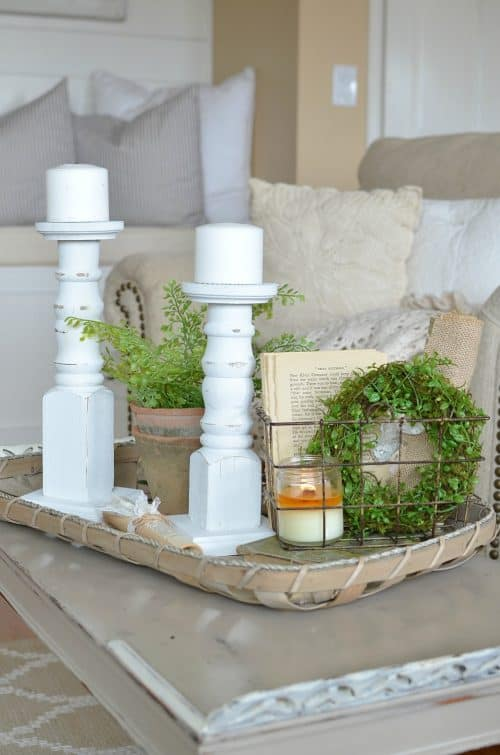 Diy fixer upper farmhouse style ideas for Decor vignette