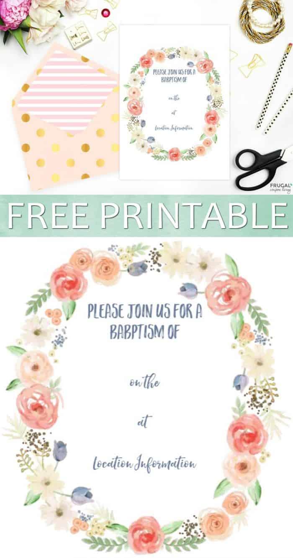 free printable baptism invitation