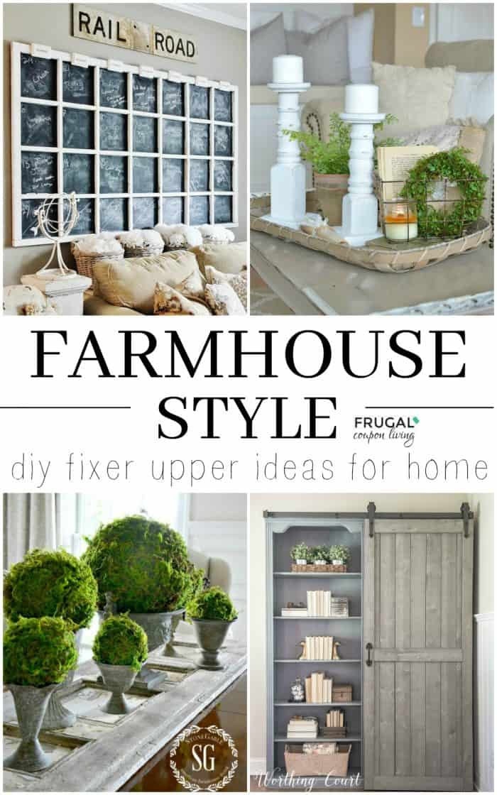 Diy Fixer Upper Farmhouse Style Ideas