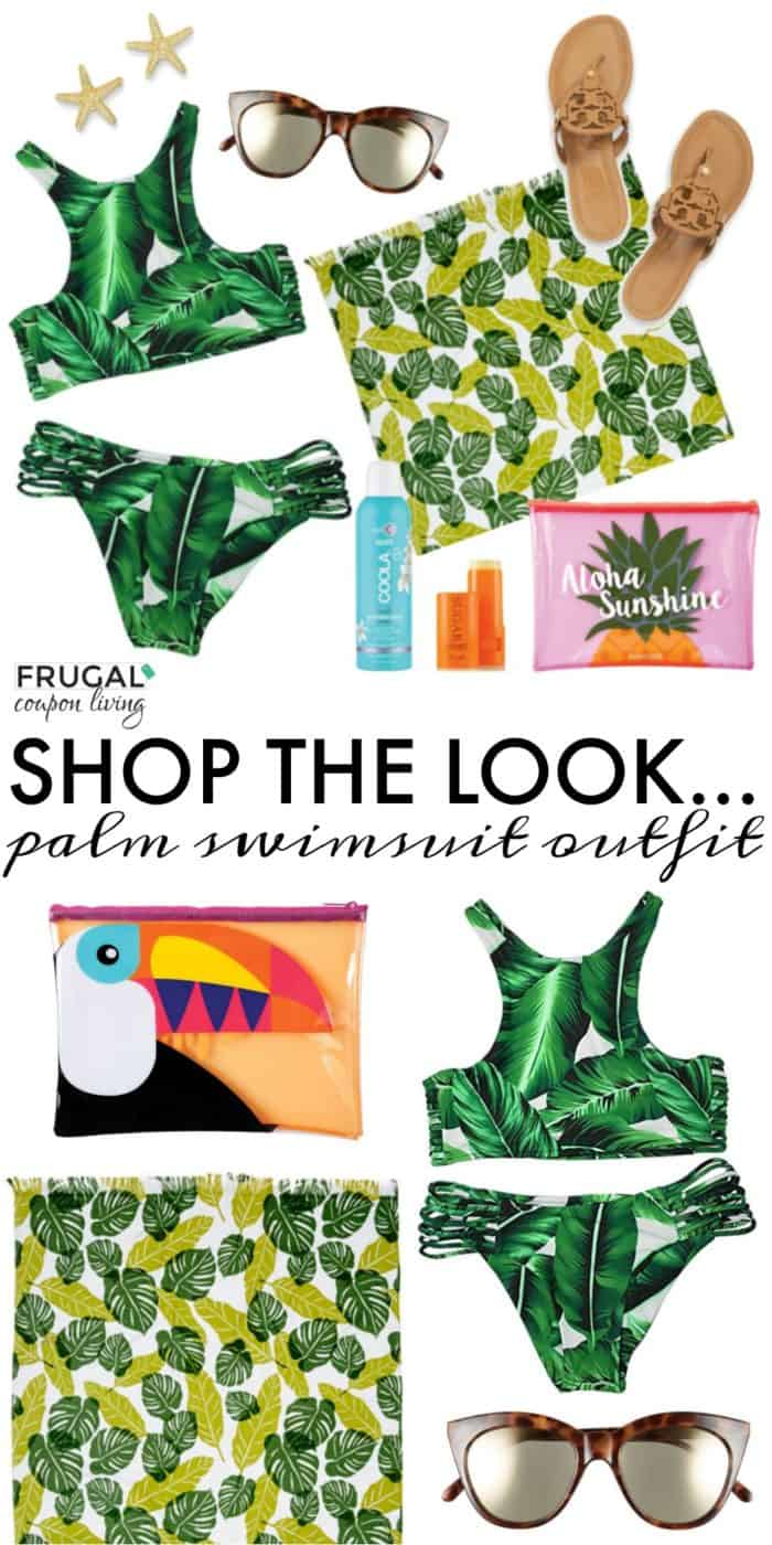 Palm Leaves Swimsuit Beach Outfit of the Day