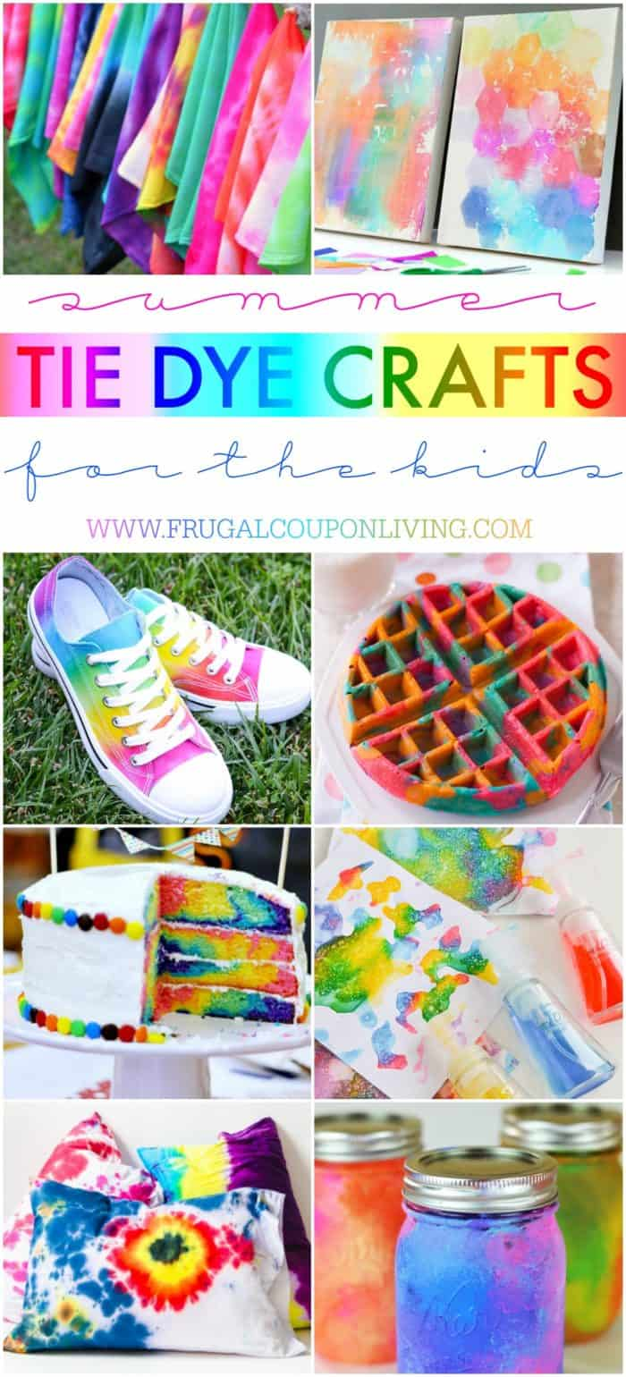 3f9c22683af4 Summer Tie Dye Crafts for the Kids