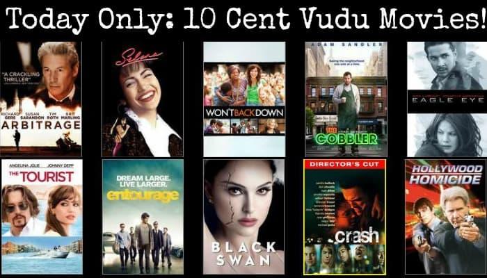 10 cent Vudu movie rentals