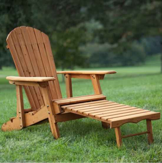 Coral Coast Big Daddy Reclining Tall Wood Adirondack Chair