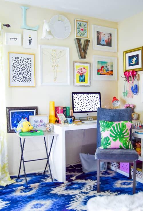 Inspiring home office decor ideas for her for Disney office decor