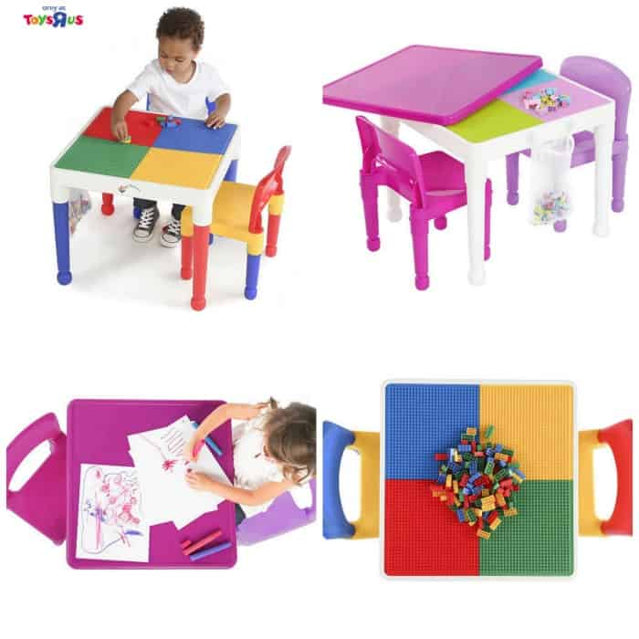 Tot Tutors 2 In 1 Lego Compatible Activity Tables Just 29 99