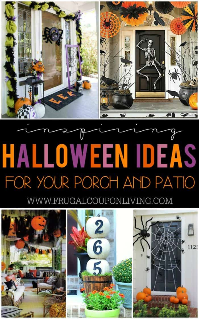 boo-tiful porch halloween ideas and patio inspiration - Patio Halloween Decorating Ideas