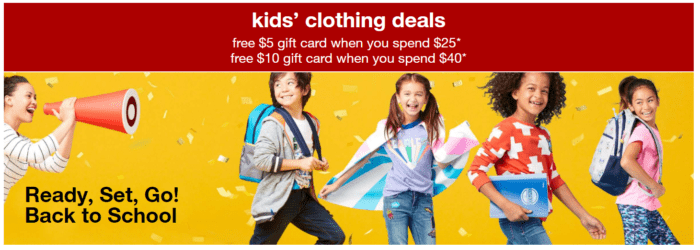 71ce76ee6c1b5 Target Kids Clothing Deal  Get  10 Target Card with  40+ Purchase ...