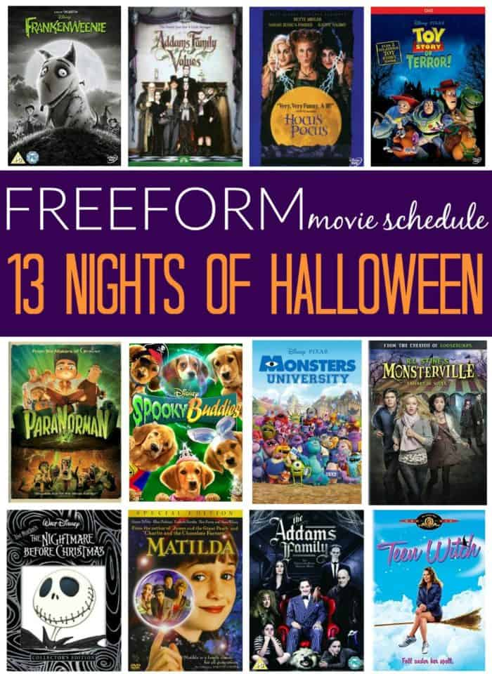 13 Nights of Halloween 2017 Movie Schedule