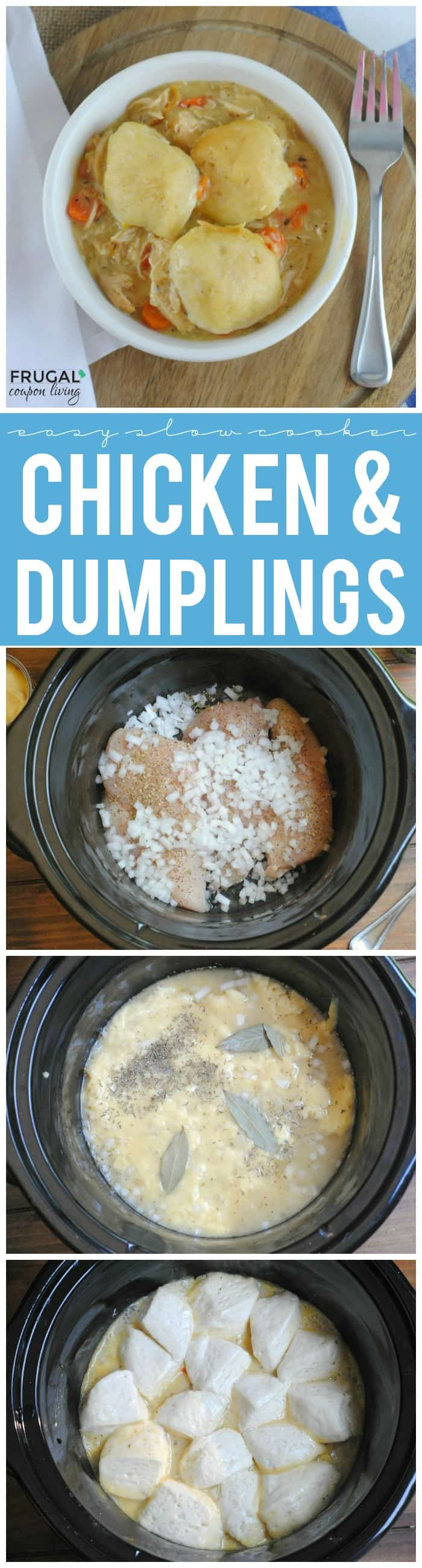 Easy Slow Cooker Chicken and Dumplings
