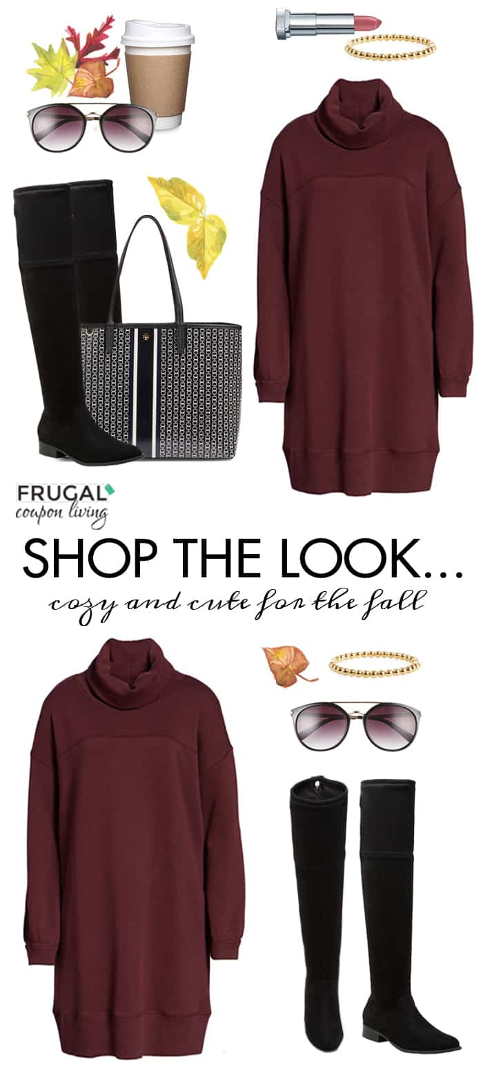 Frugal Fashion Friday Fall Sweater Dress Outfit