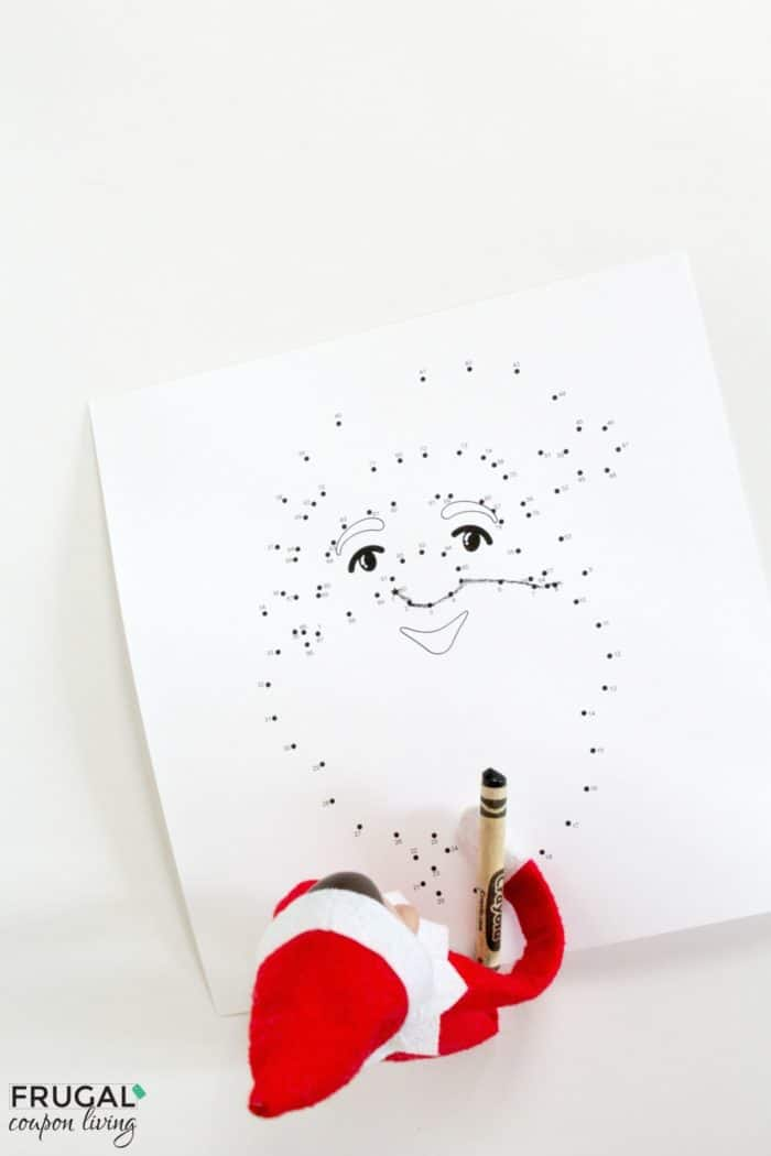 Elf on the Shelf Ideas | Santa Christmas Dot to Dot