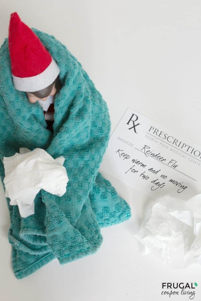 elf on the shelf ideas reindeer flu prescription instant download. Black Bedroom Furniture Sets. Home Design Ideas