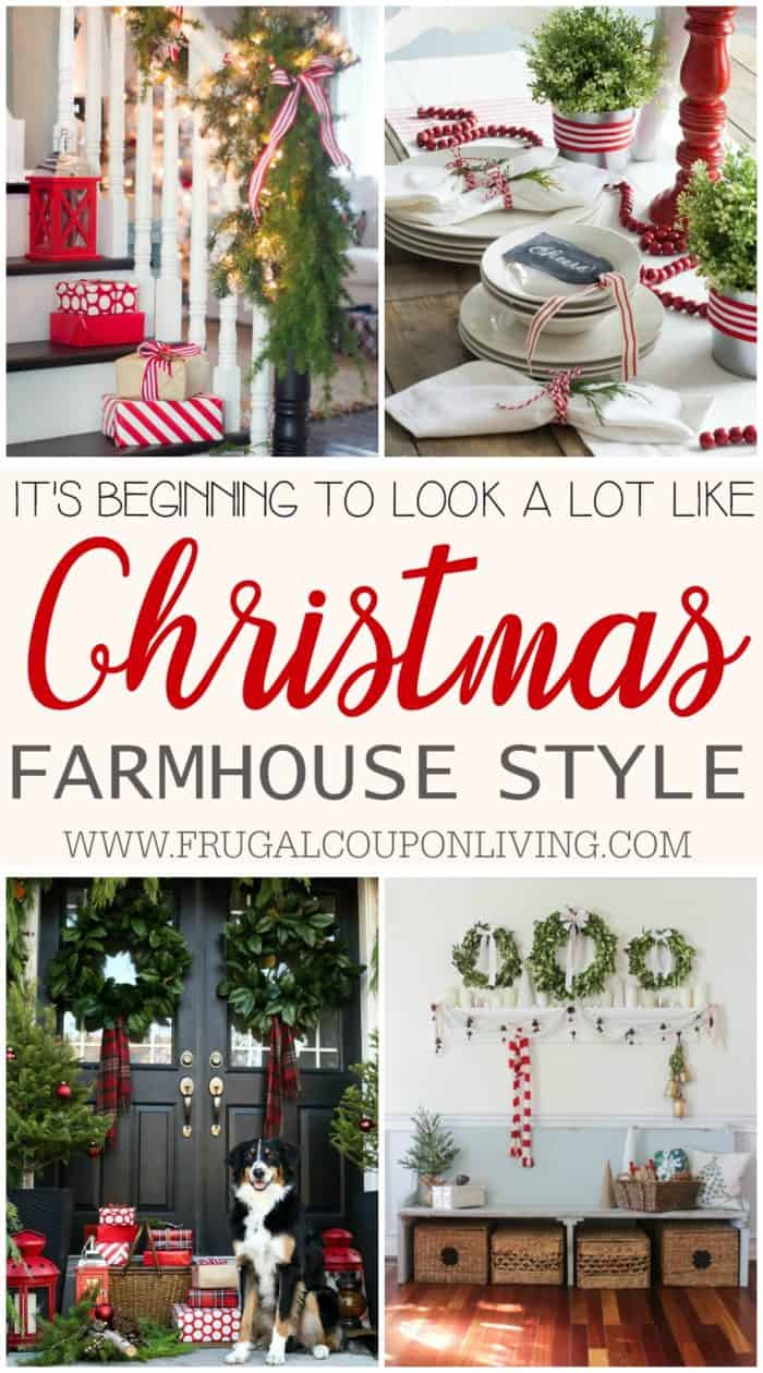 inspiring farmhouse christmas decor - Farmhouse Christmas Decorating Ideas