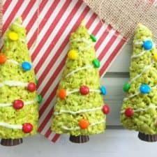 Rice Krispie Treats Christmas Tree.Christmas Tree Rice Krispies Treats A Holiday Food Craft For The Kids