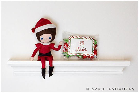 image relating to Elf Kisses Printable identified as Elf upon the Shelf Suggestions Elf incorporates a present, Elf Kisses (Quick