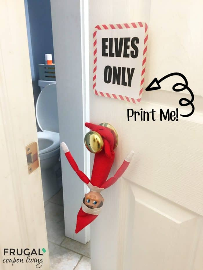 on the shelf ideas printable elves only note for the
