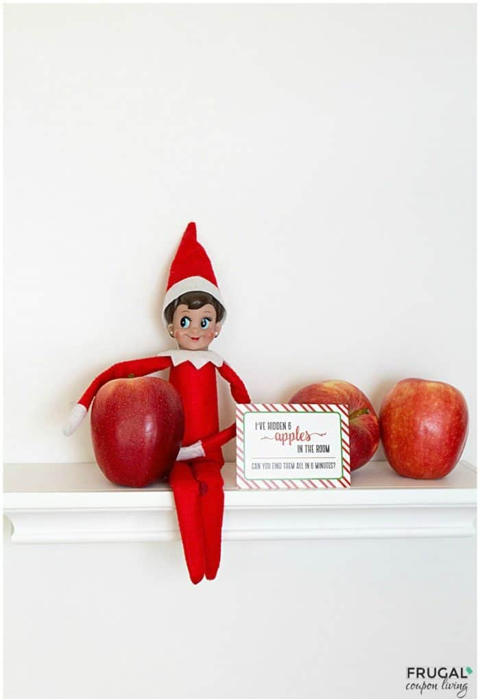 Elf on the Shelf Ideas | Elf Hides Apples