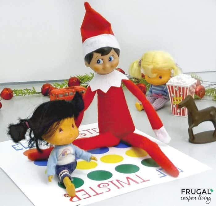 image relating to Elf Yourself Printable referred to as Simple Elf upon the Shelf Suggestions Printable Twister Board