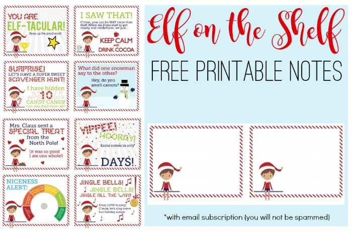 graphic about Elf Printable Coupons named Absolutely free Elf upon the Shelf Notes