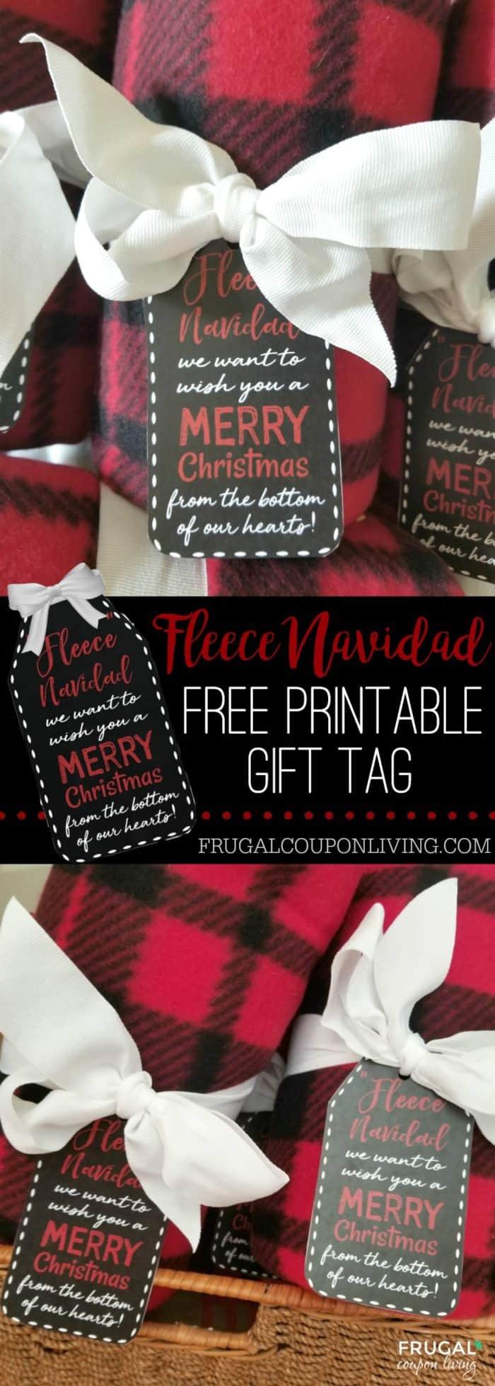 Free Printable Fleece Navidad Gift Tag