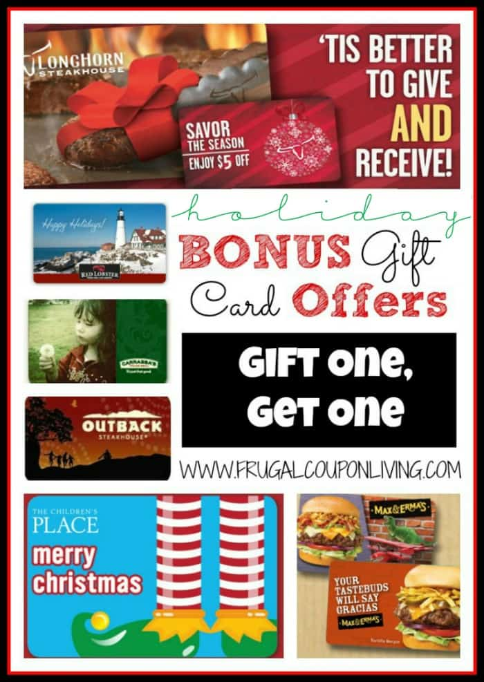 save tis the season for holiday bonus gift card offers - Holiday Gift Card Promotions 2017
