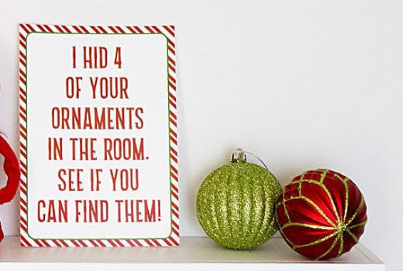 Elf on the Shelf Ideas | Elf Hides Ornaments