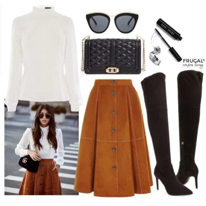 Frugal Fashion Friday Suede Skirt Fall Fashion