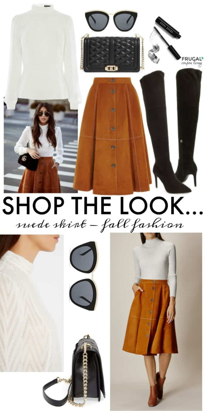 Frugal Fashion Friday Suede Skirt Fall Fashion