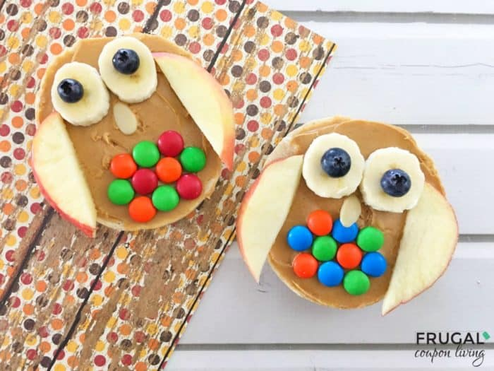 Kids Healthy Snack - Owl Bagel