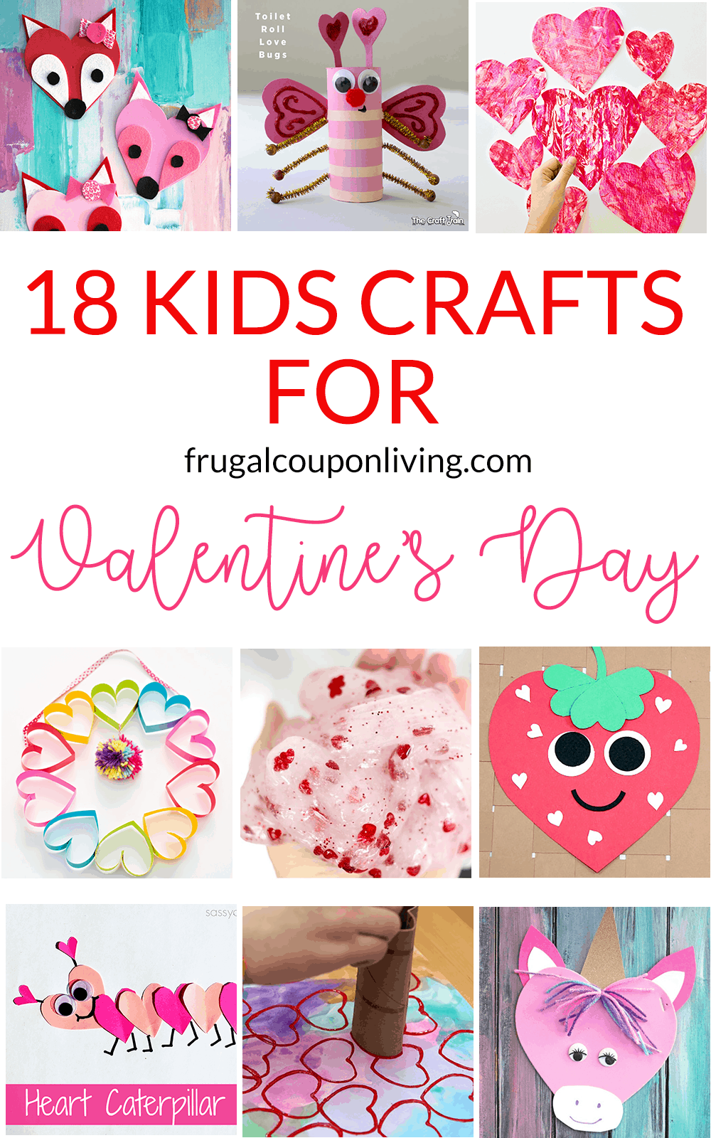 18 super cute diy valentines crafts for kids for Valentines day toddler crafts