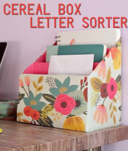 Upcycled Cereal Box Crafts Diy Projects Using Old Cereal