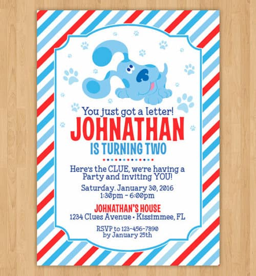 Blues Clues Party Invitations Cobypic