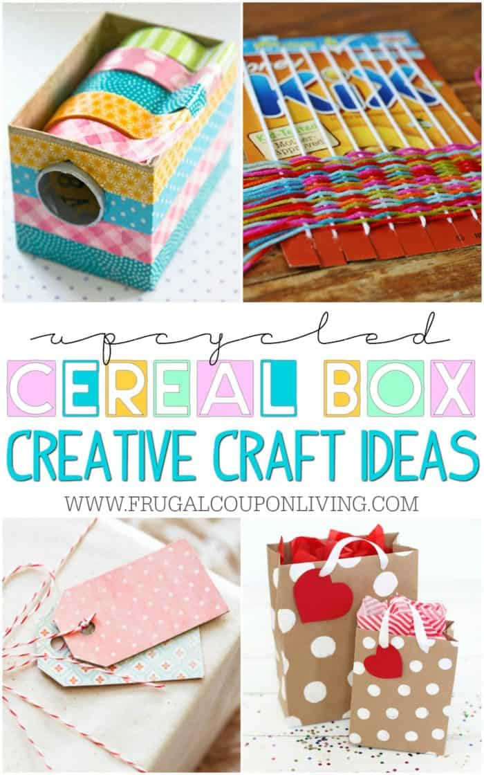 Upcycled Cereal Box Crafts Diy Projects Using Old Cereal Boxes