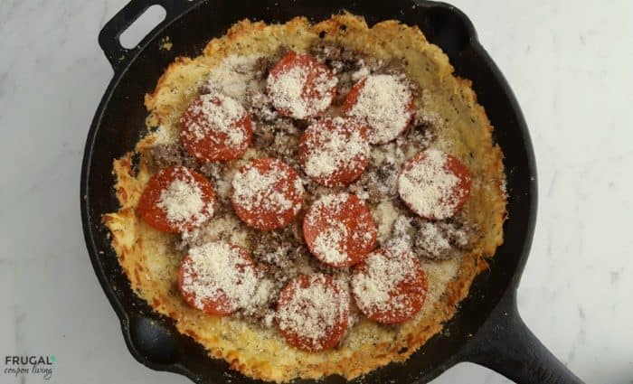 Keto Pizza - Deep Dish Recipe in a Cast Iron Skillet