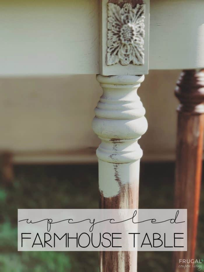 Upcycled Farmhouse Table with Chalk Paint