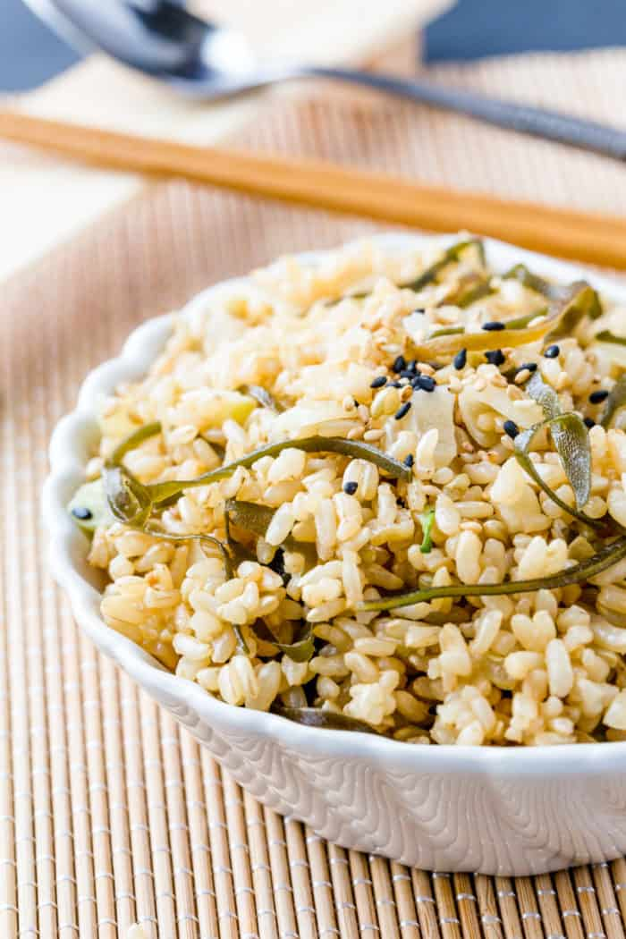 Brown Rice and Seaweed Salad