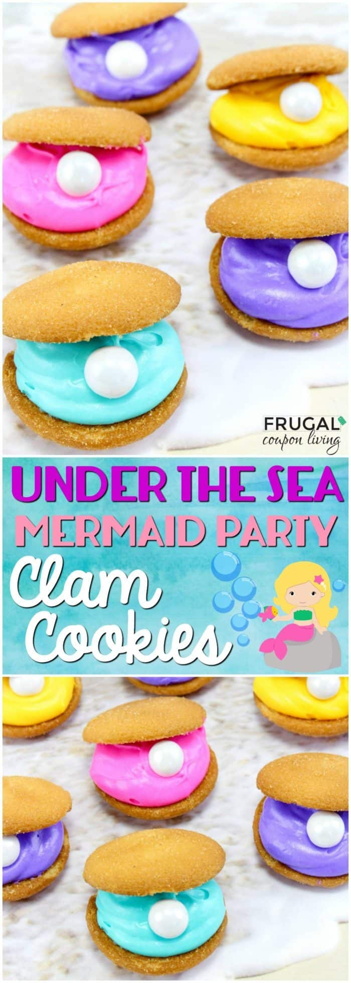 Mermaid Party Clam Cookies