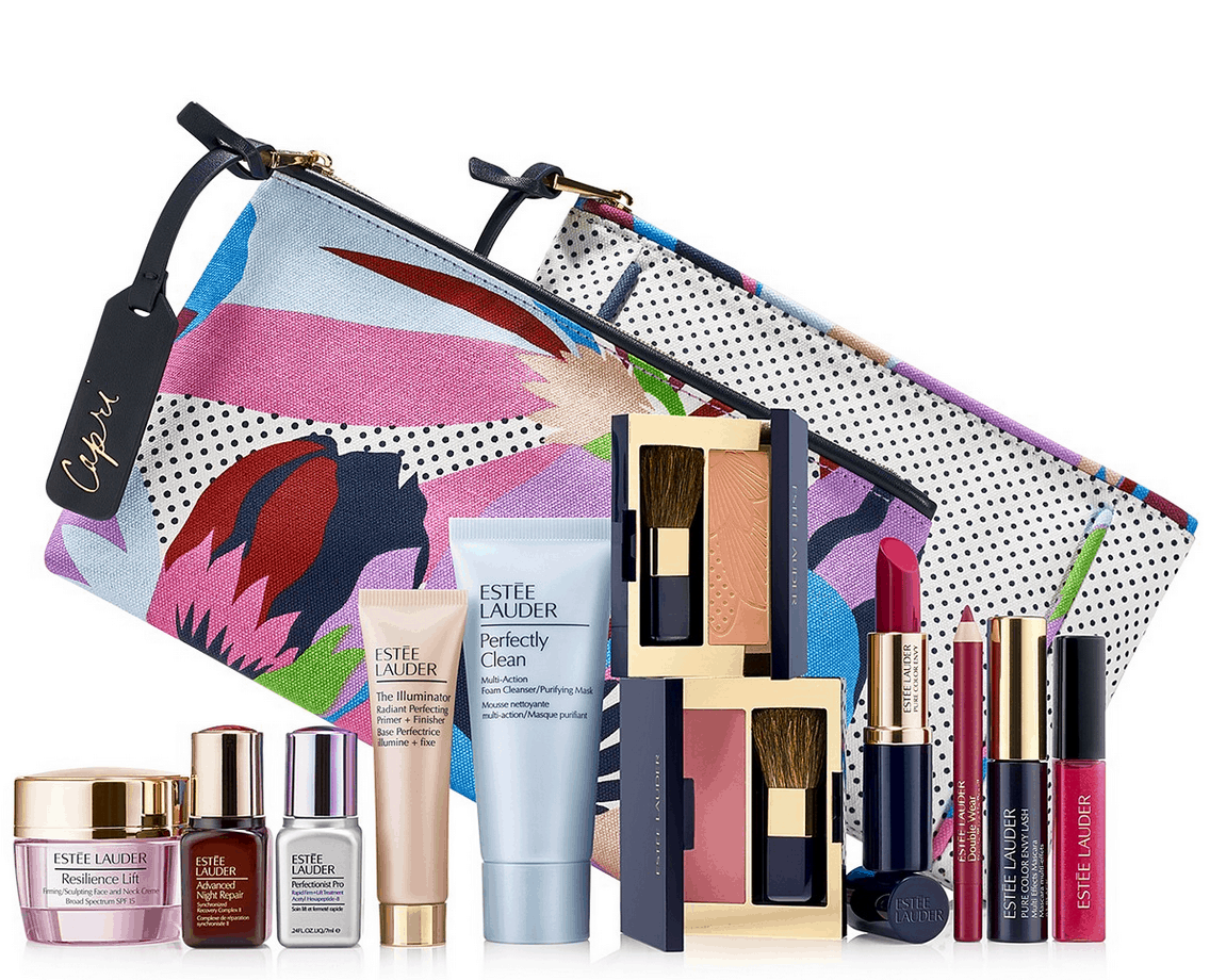 get a free 7 piece este lauder gift set 145 value when you make a 3750 este lauder purchase no coupon code needed this awesome value gets added to