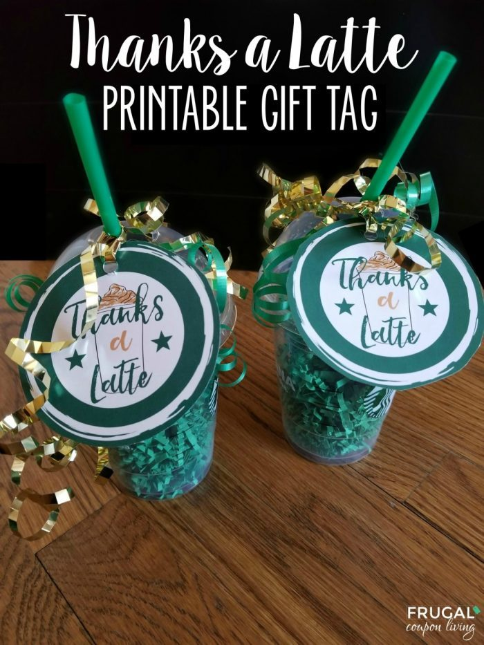 Thanks a Latte Gift Tag