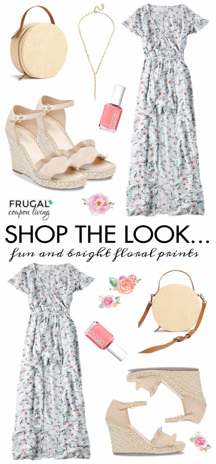 Frugal Fashion Friday Spring Floral Romper Outfit