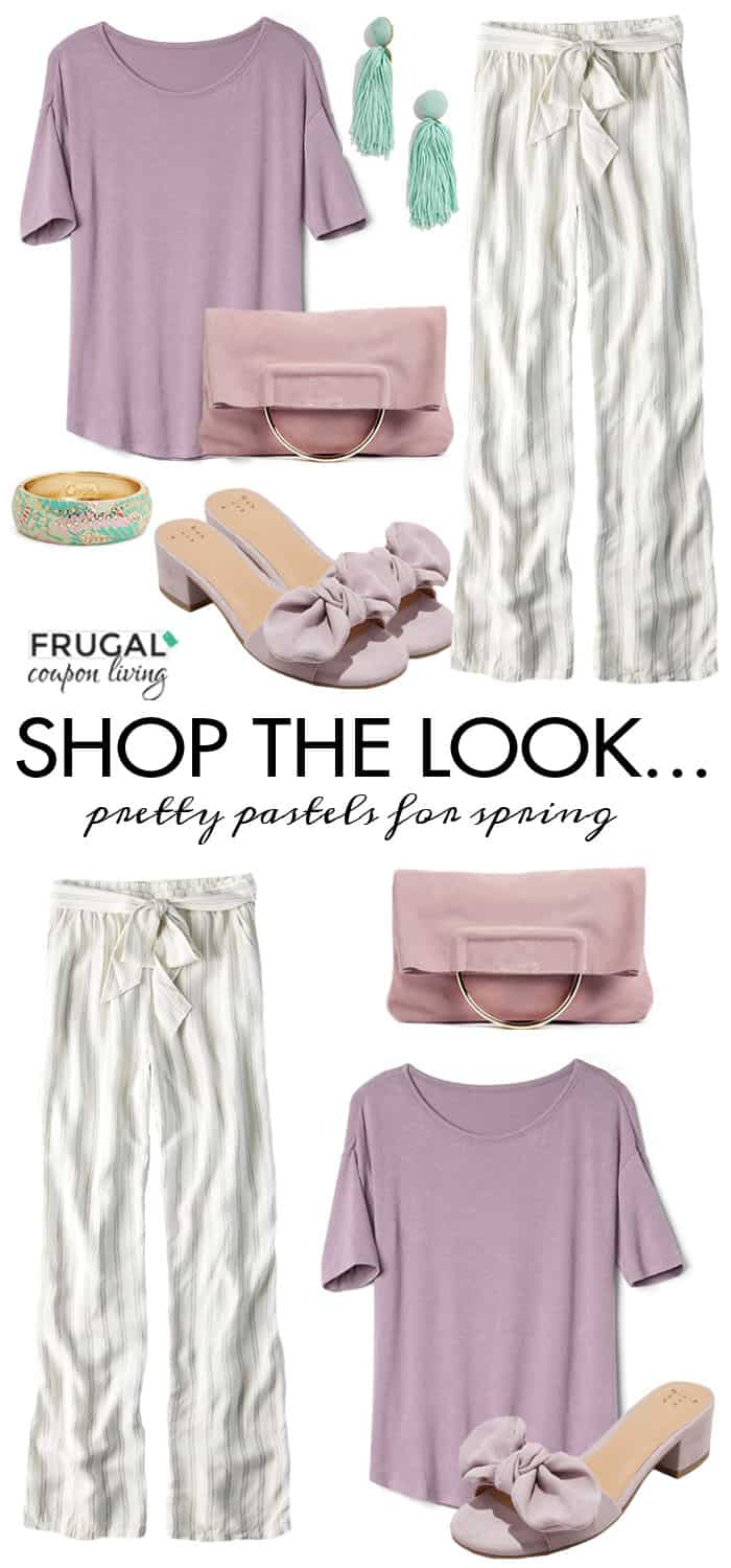 It's anotherFrugal Fashion Friday.This week Spring Palazzo Pants Outfit with a foldover clutch, bangle and tassel earrings! #FrugalCouponLiving #FrugalFashionFriday #springfashion #fashion #ootd #outfit #springootd #streetstyle #Palazzo  #Palazzopants