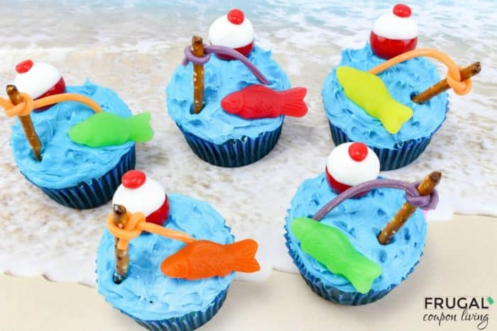 Fishing Cupcakes - Father's Day Dessert
