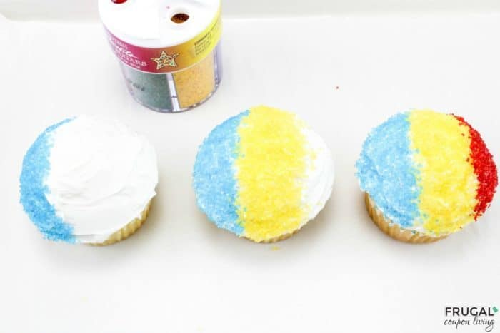 Making Snow Cone Summer Cupcakes