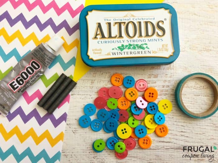 Altoid Tin Craft - Tic Tac Toe Travel Game Supplies